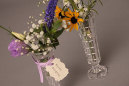 Crystal and pressed single stem and bud vases