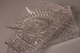 pressed glass trays